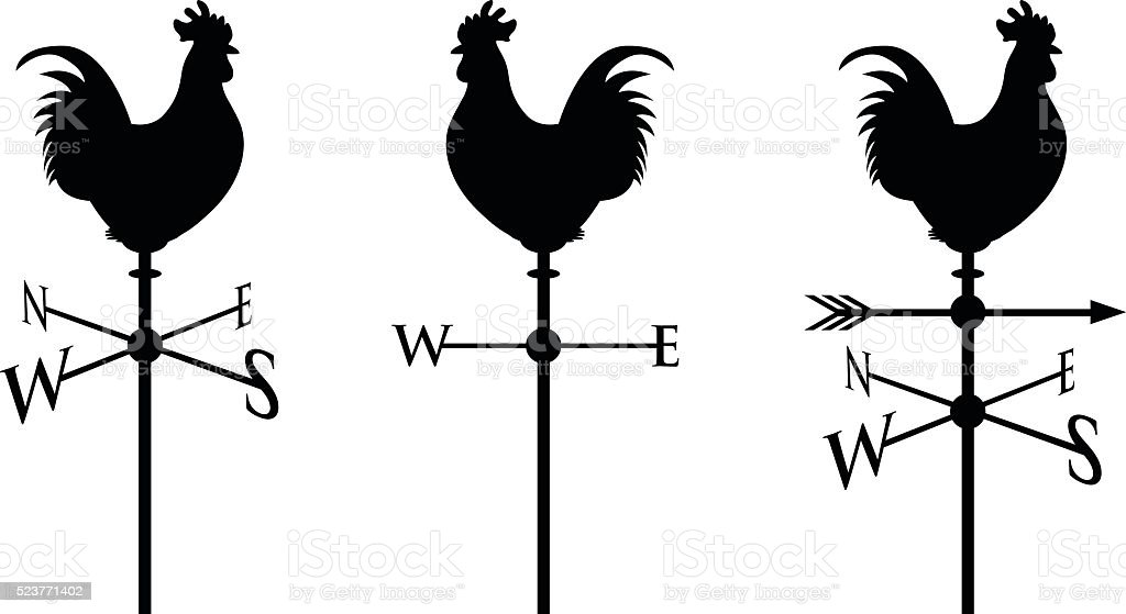 black cockerel silhouette vector art illustration