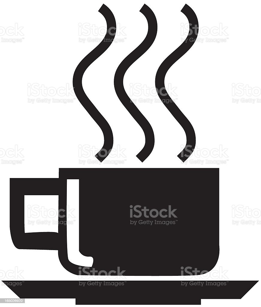 Black coffe cup royalty-free stock vector art
