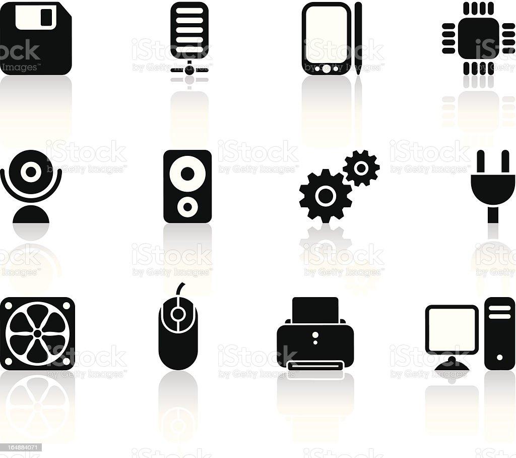 black computer icons royalty-free stock vector art