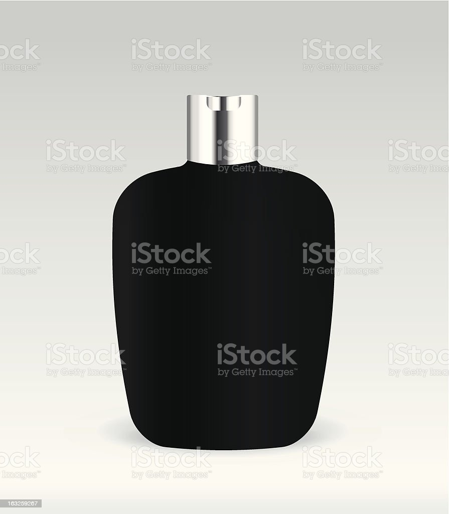 Black cosmetic container bottle royalty-free stock vector art