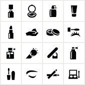 Black Cosmetics Icons