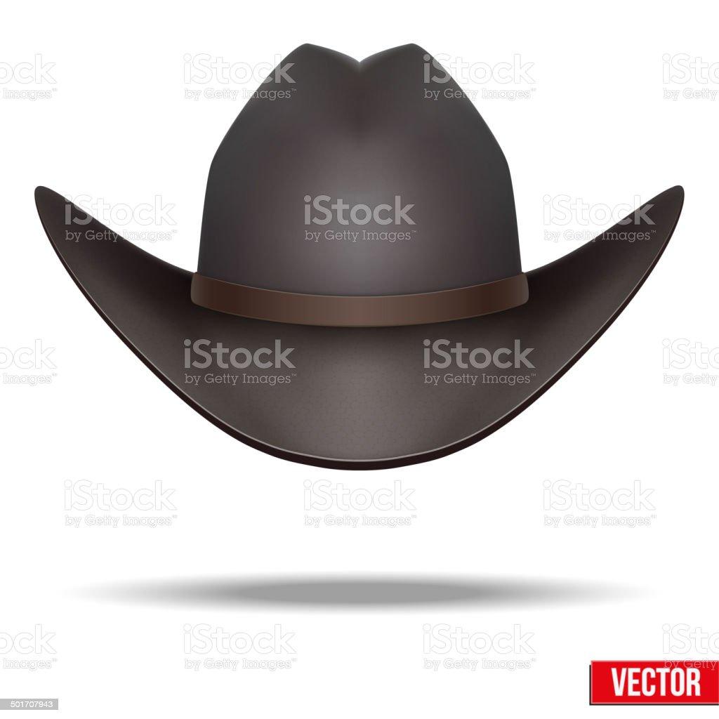 Black cowboy hat. Vector Illustration. Isolated on white background. vector art illustration