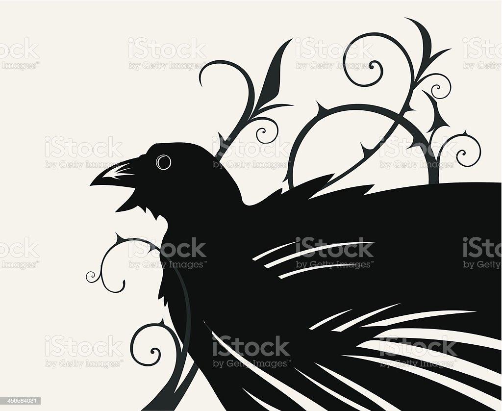 Black crow royalty-free stock vector art