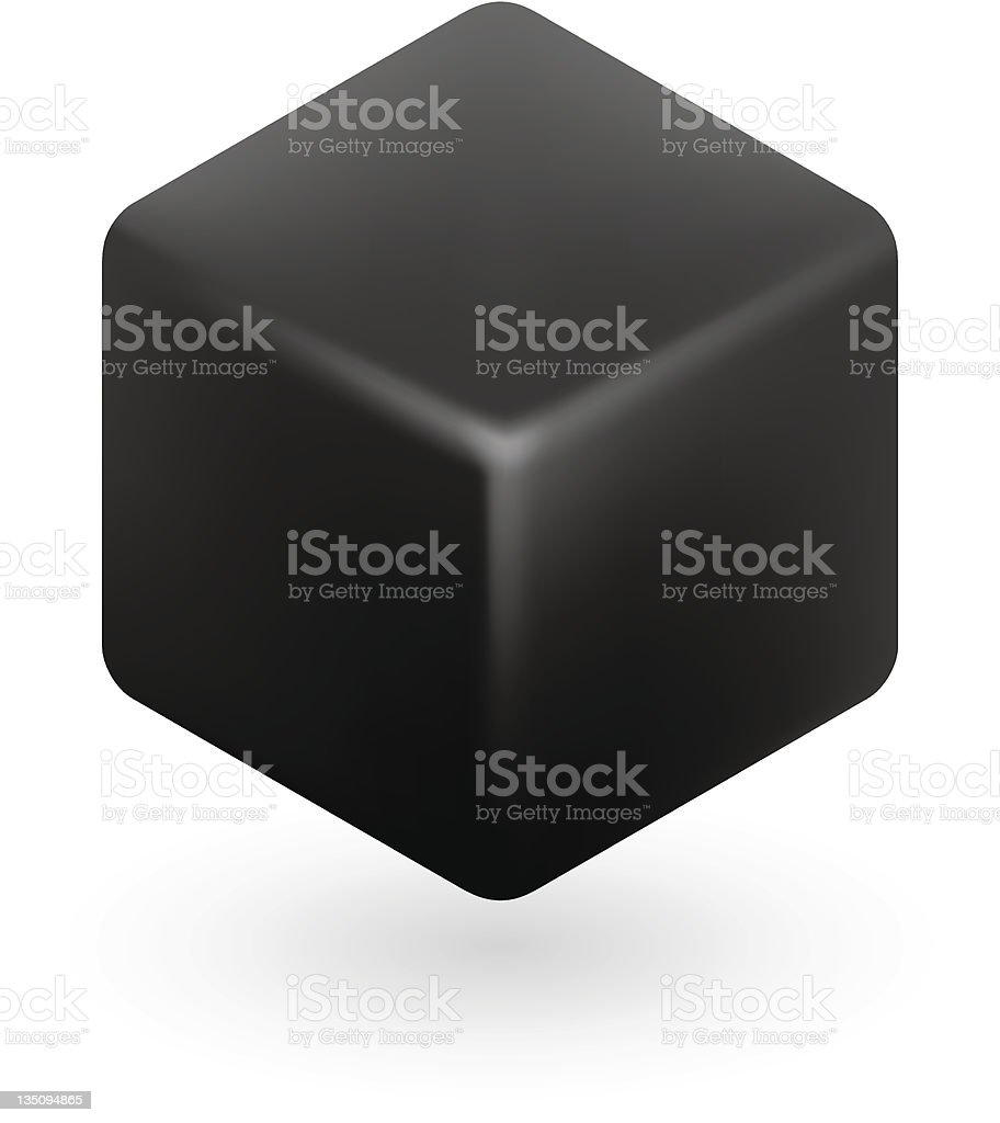 Black Cube royalty-free stock vector art