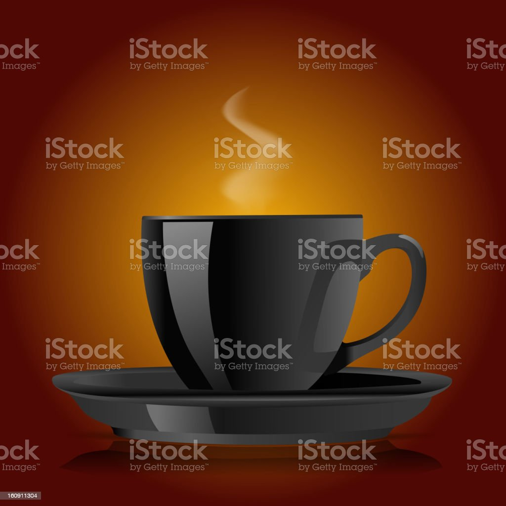 black cup of coffee royalty-free stock vector art