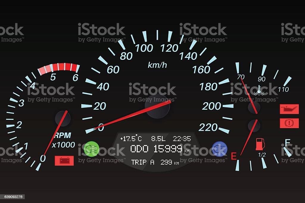 Black Dashboard Signs Car Computer Stock Vector Art  IStock - Car signs on dashboard