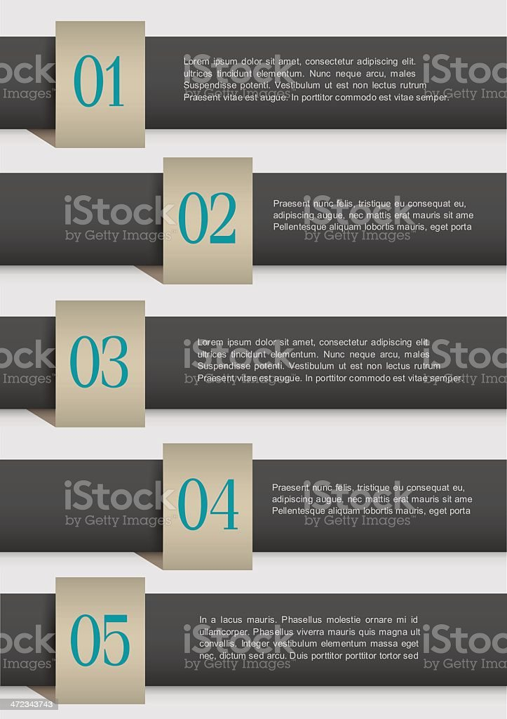 Black design Infographic Template royalty-free stock vector art