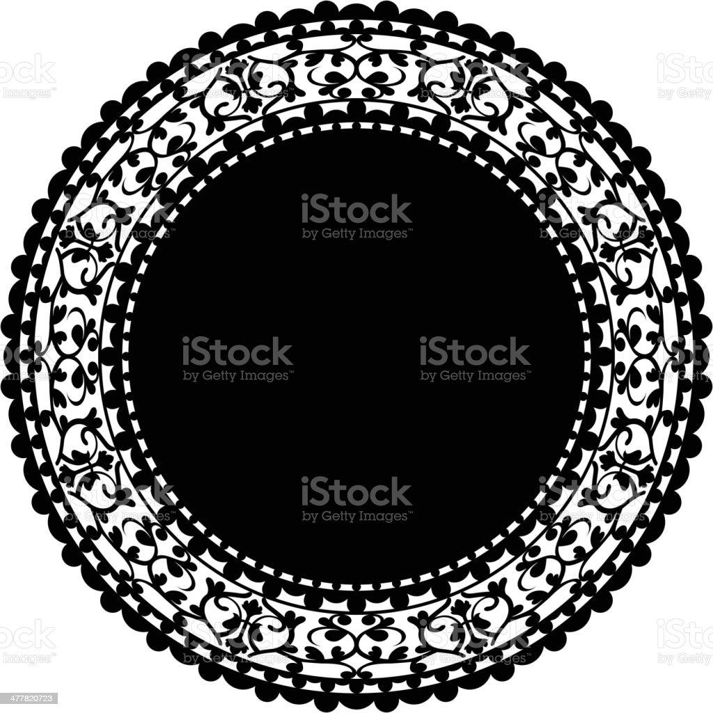 black doily royalty-free stock vector art