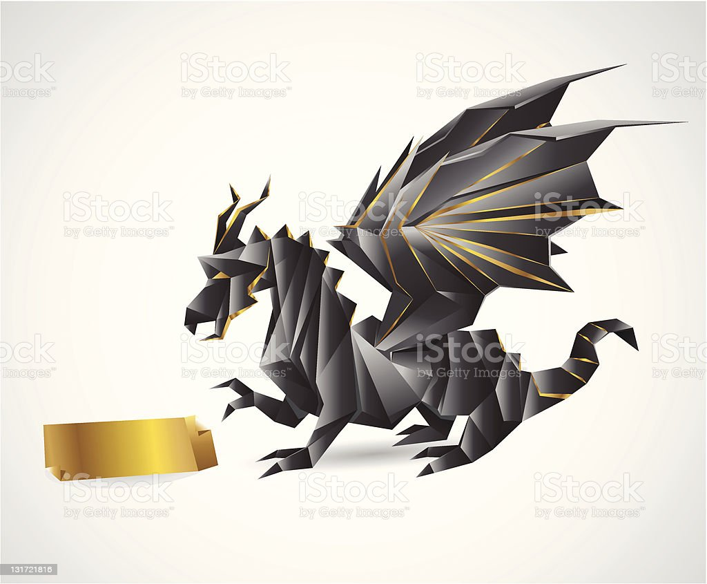 Black Dragon royalty-free stock vector art