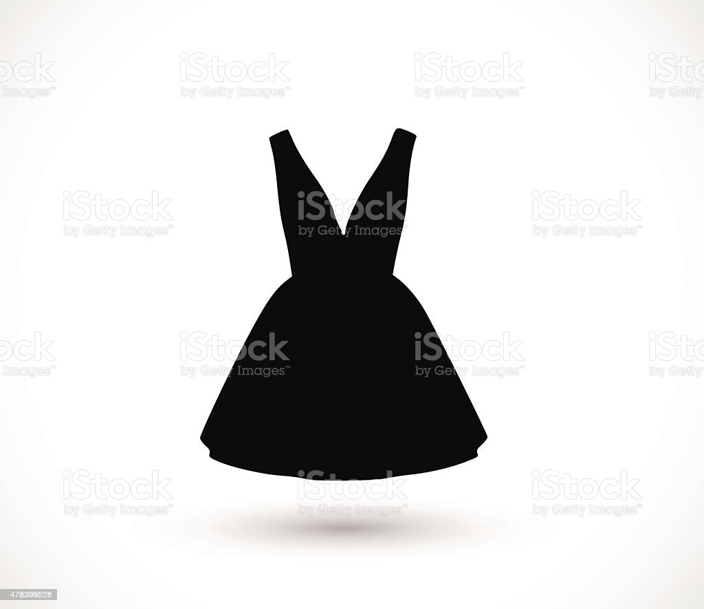 Black dress icon illustration vector art illustration