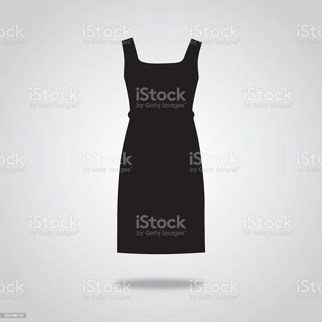 Black Dress Icon vector art illustration