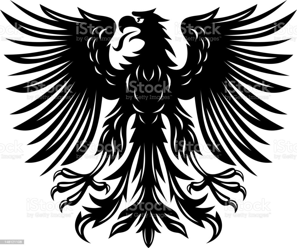 Black eagle royalty-free stock vector art