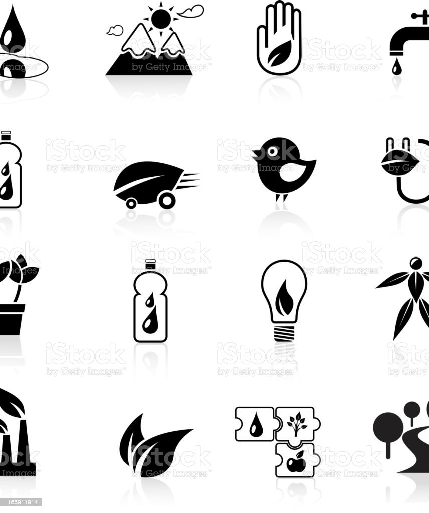 Black Ecology Icon royalty-free stock vector art