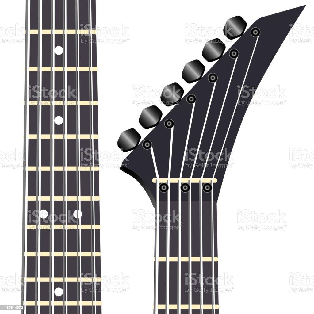 Black electric guitar royalty-free stock vector art