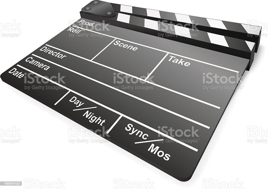Black Film Slate royalty-free stock vector art
