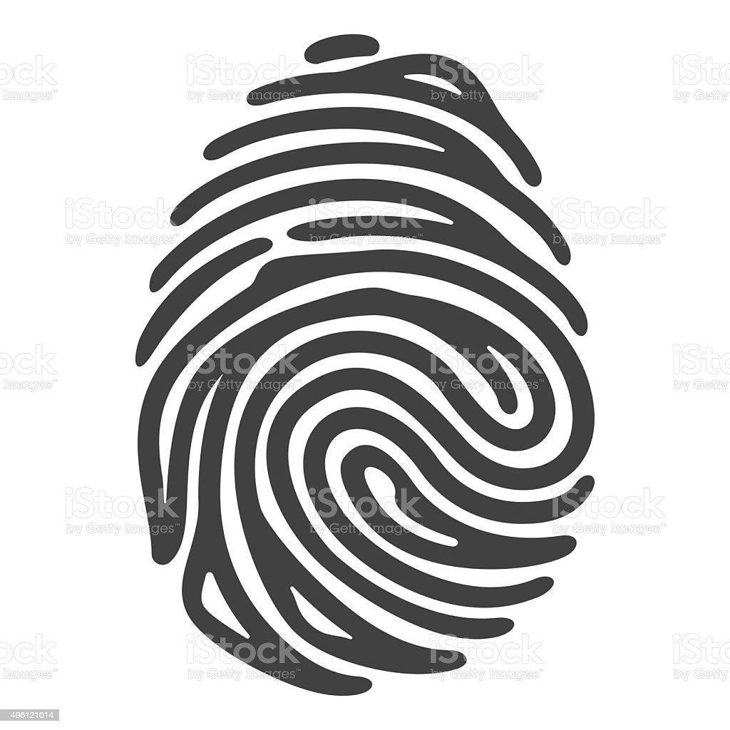black fingerprint vector art illustration
