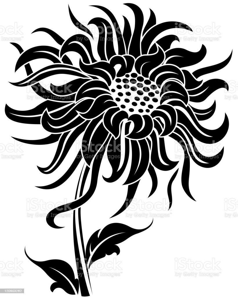 Black flower royalty-free stock vector art