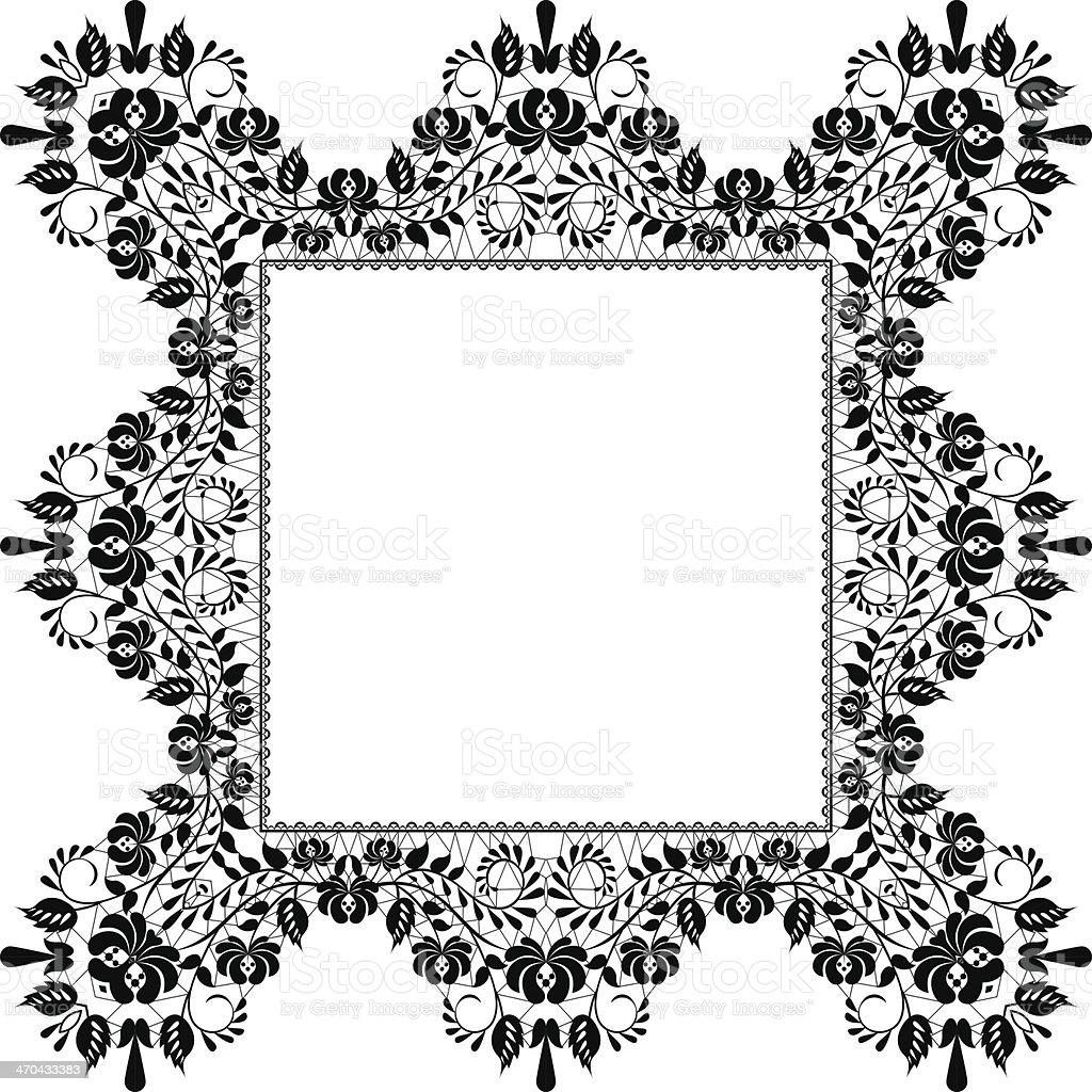 black frame royalty-free stock vector art