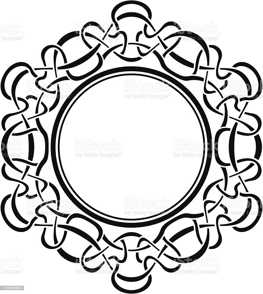 Black frame with ornamental border royalty-free stock vector art
