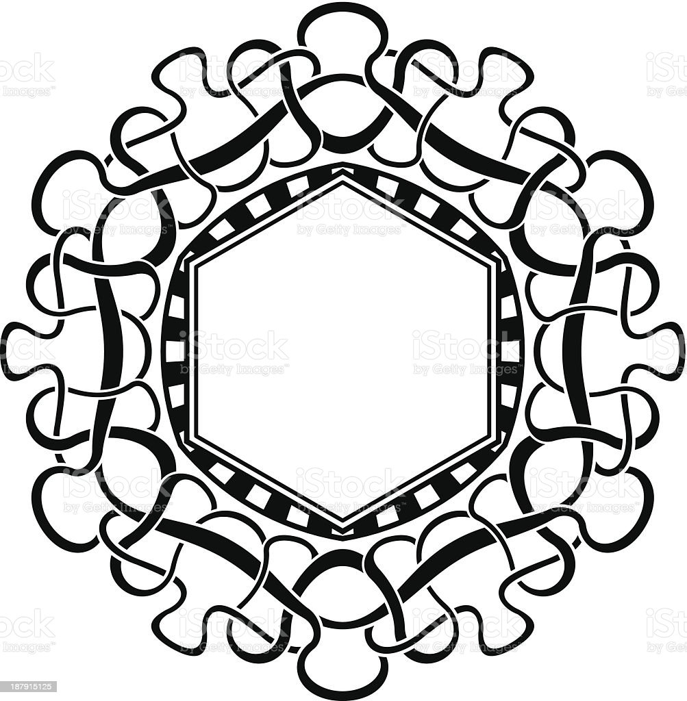 Black frame with ornamental border royalty-free stock vector art