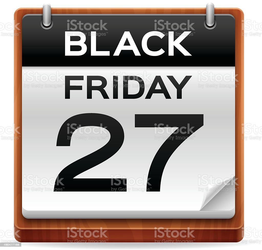 Black Friday 2015 Calendar vector art illustration