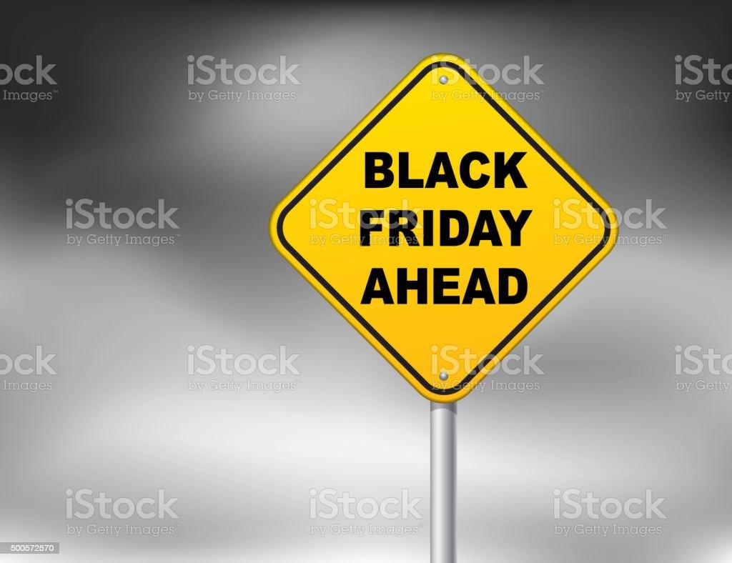 Black Friday ahead vector art illustration