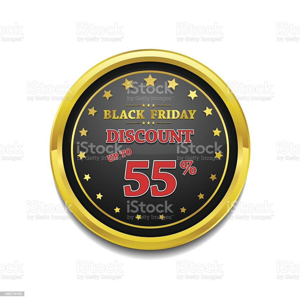 Black Friday Discount Vctor Icon Button vector art illustration