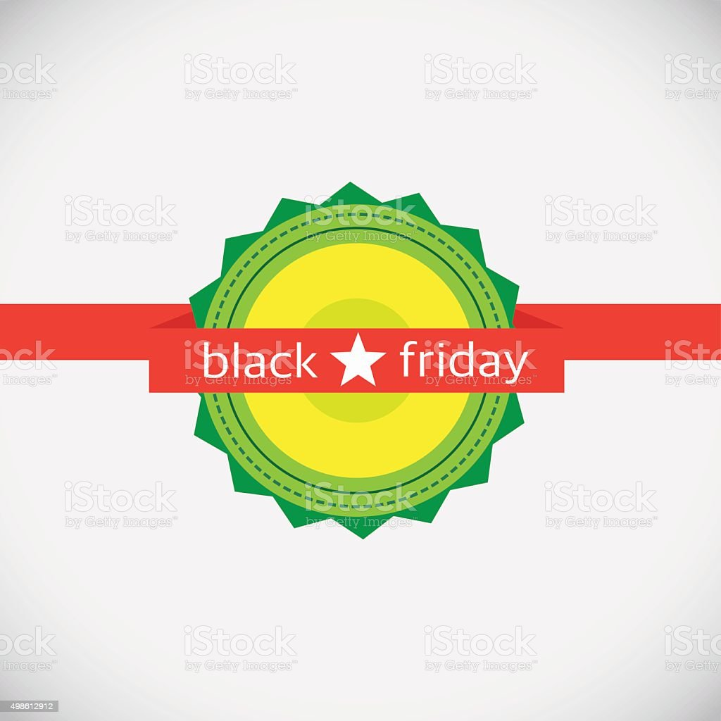 Black Friday emblem isolated on gray. Final sale. royalty-free stock vector art