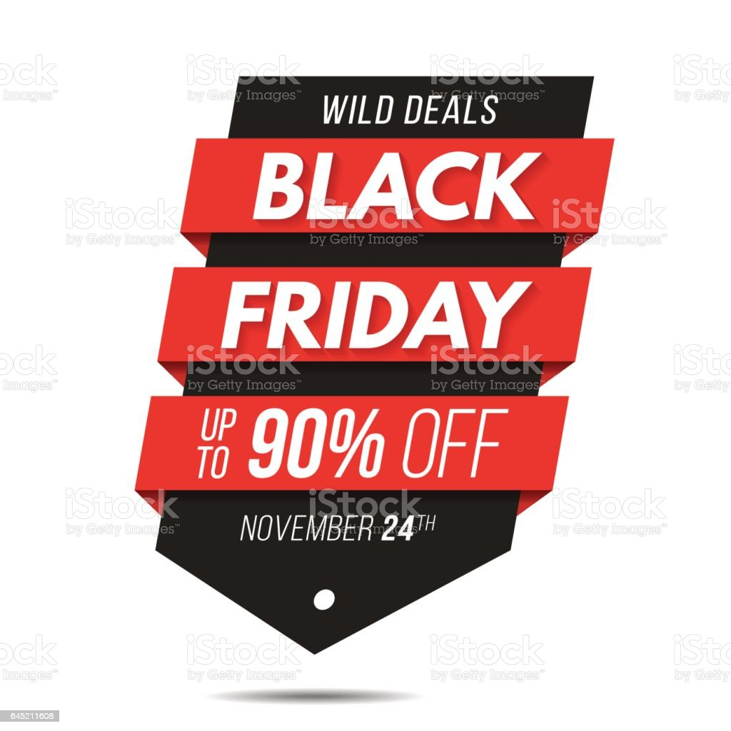 Price for a poster design - Black Friday Label Price Tag Sale Banner Badge Template Sticker Design Royalty Free Stock