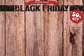 Black Friday logo on the board