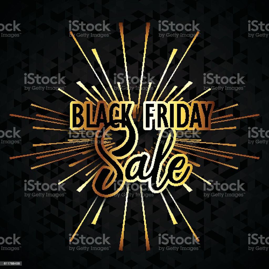 Black Friday sale background vector art illustration