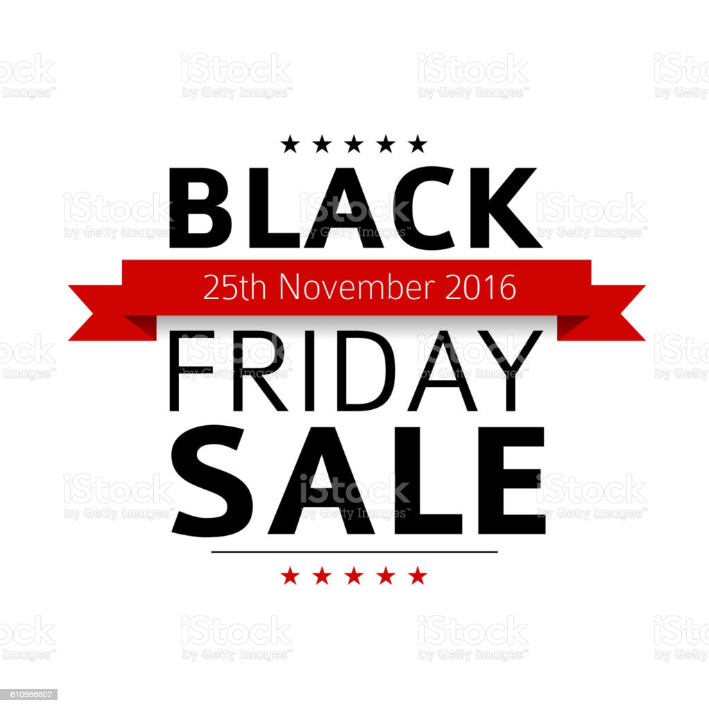 Black friday sale design template vector art illustration