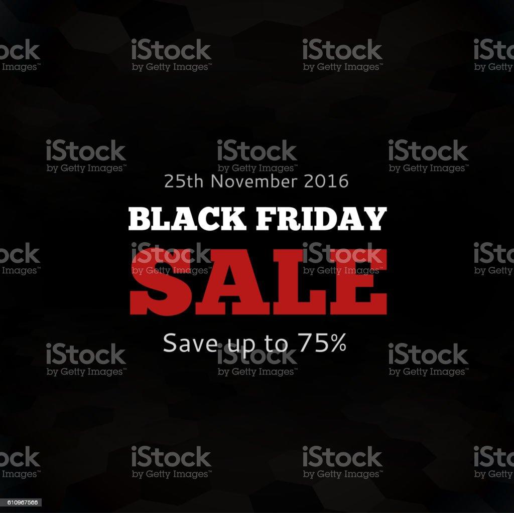 Black friday sale design template vector art illustration
