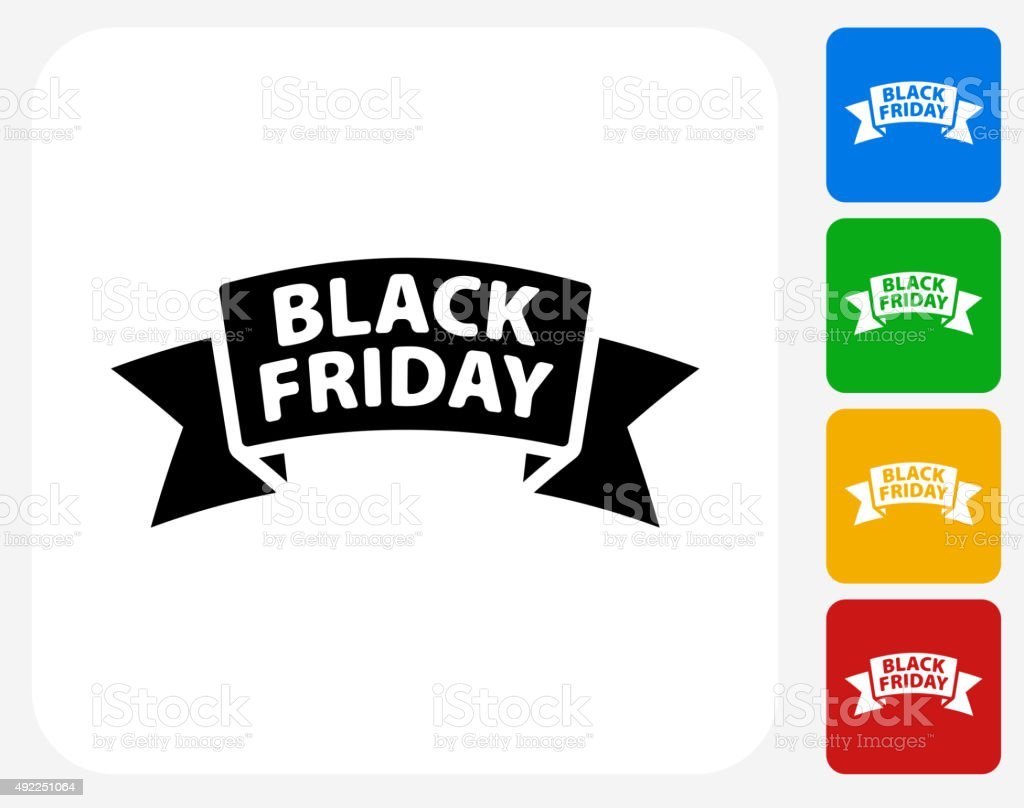 Black Friday Sale Icon Flat Graphic Design vector art illustration