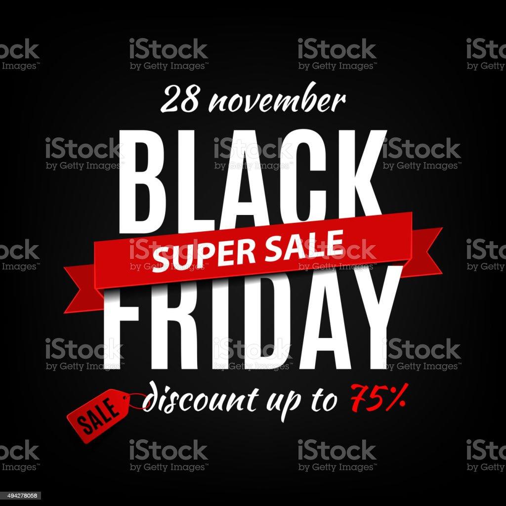 Black friday sale inscription design template. Black friday banner vector art illustration