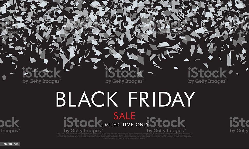 Black friday. Sale. Label vector art illustration