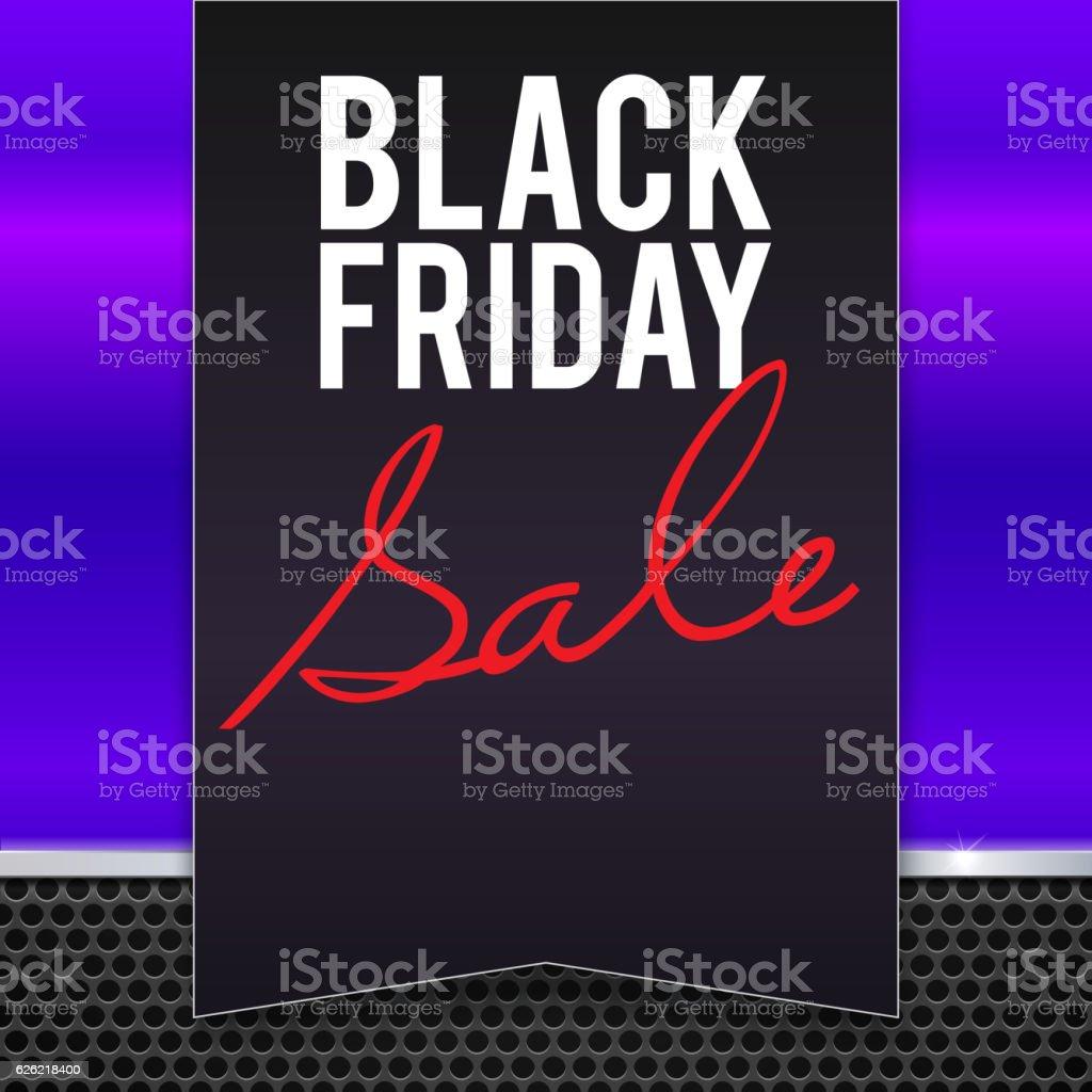 Black Friday sale large banner, pennant, flag vector art illustration