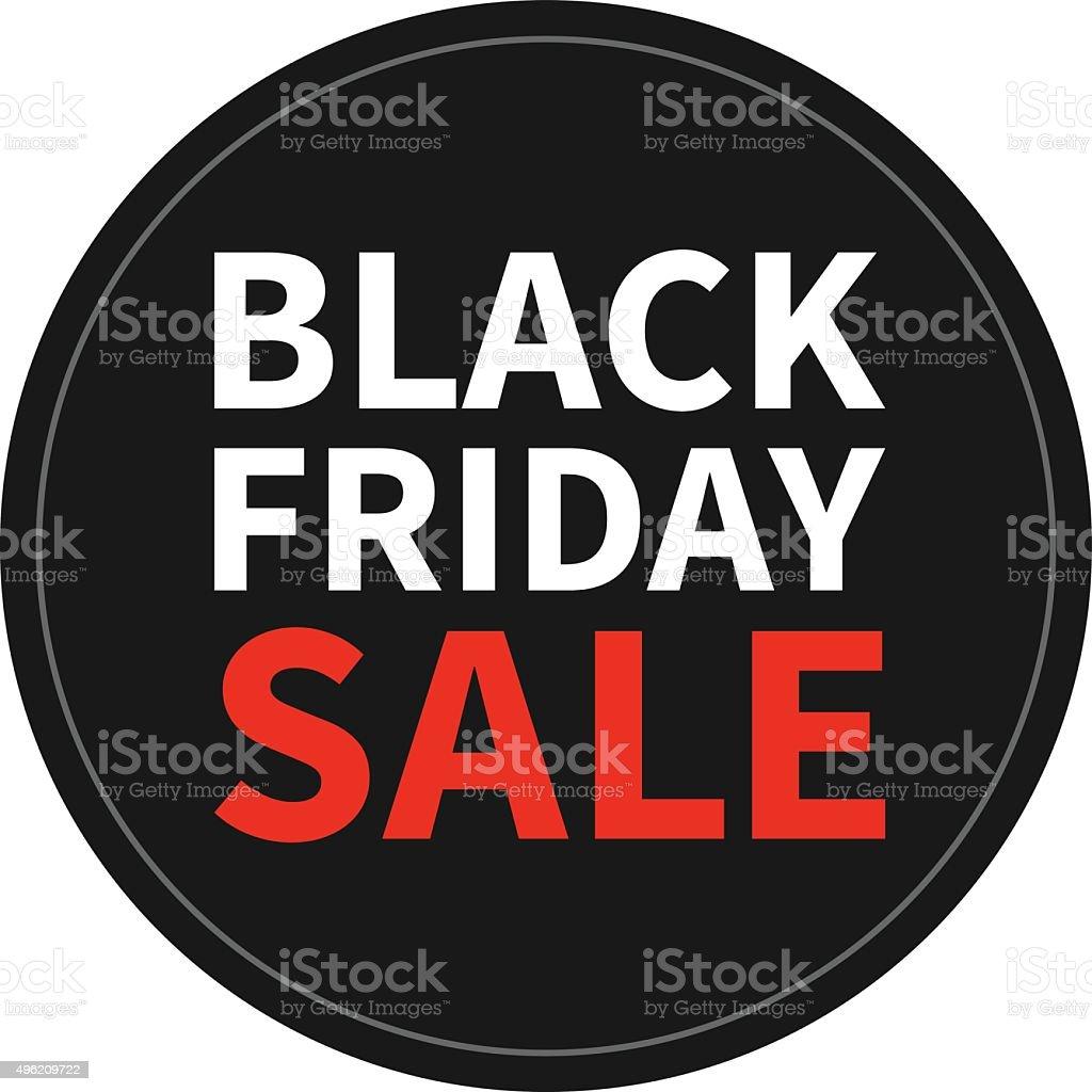 Black Friday Sale promotion vector sticker / display vector art illustration