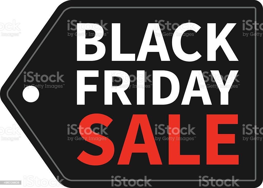 Black Friday Sale tag promotion vector vector art illustration