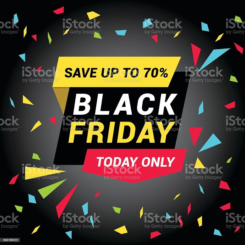 Black Friday Sale Tag vector art illustration
