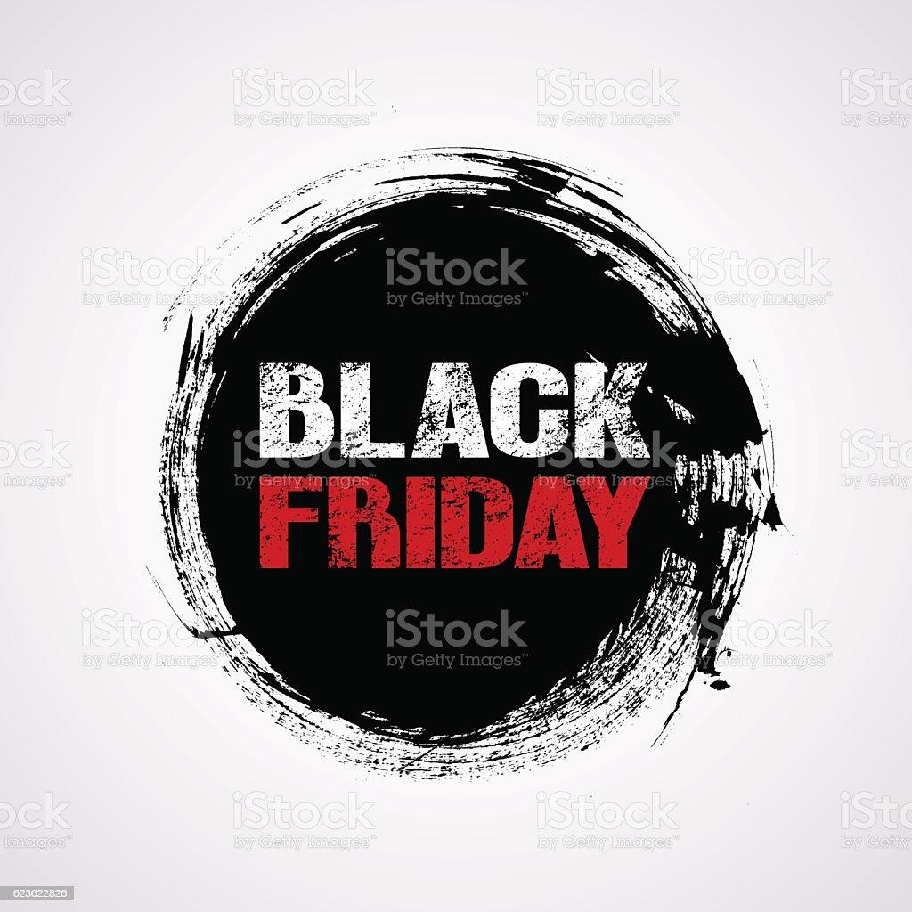 Black Friday sale title logo vector art illustration