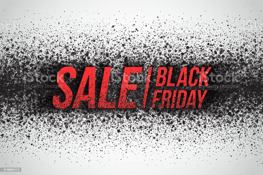 Black Friday Sale Vector Background vector art illustration