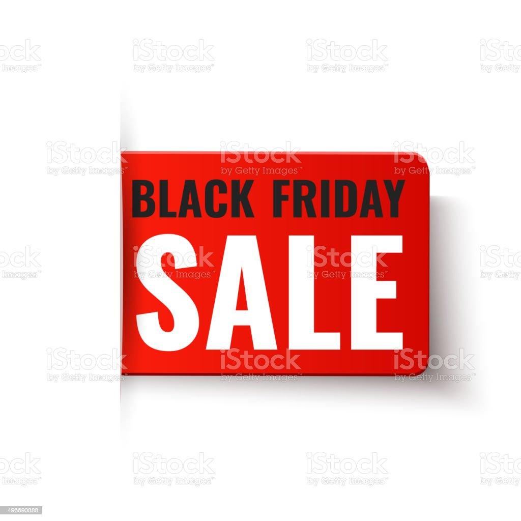 Black Friday Sale - vector red tag vector art illustration