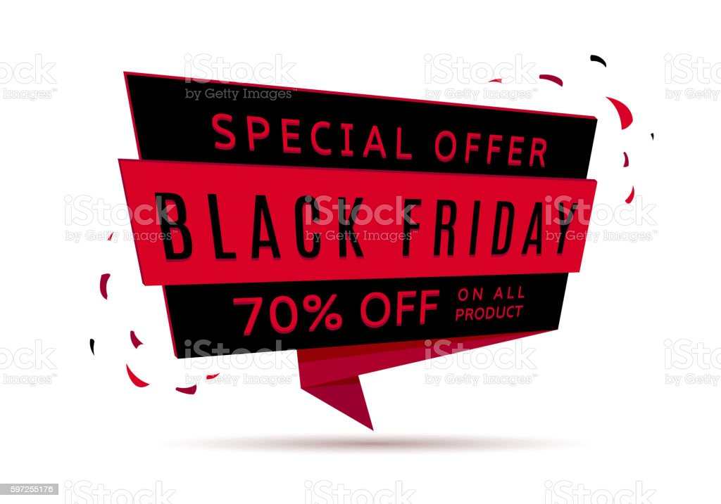 Black Friday sale web banner royalty-free stock vector art