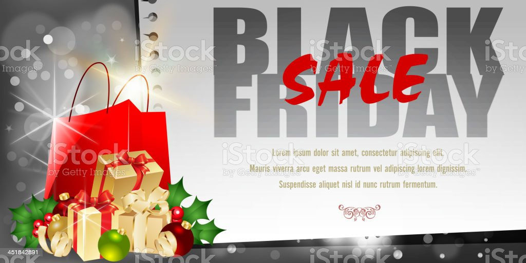 Black Friday Sales Background royalty-free stock vector art