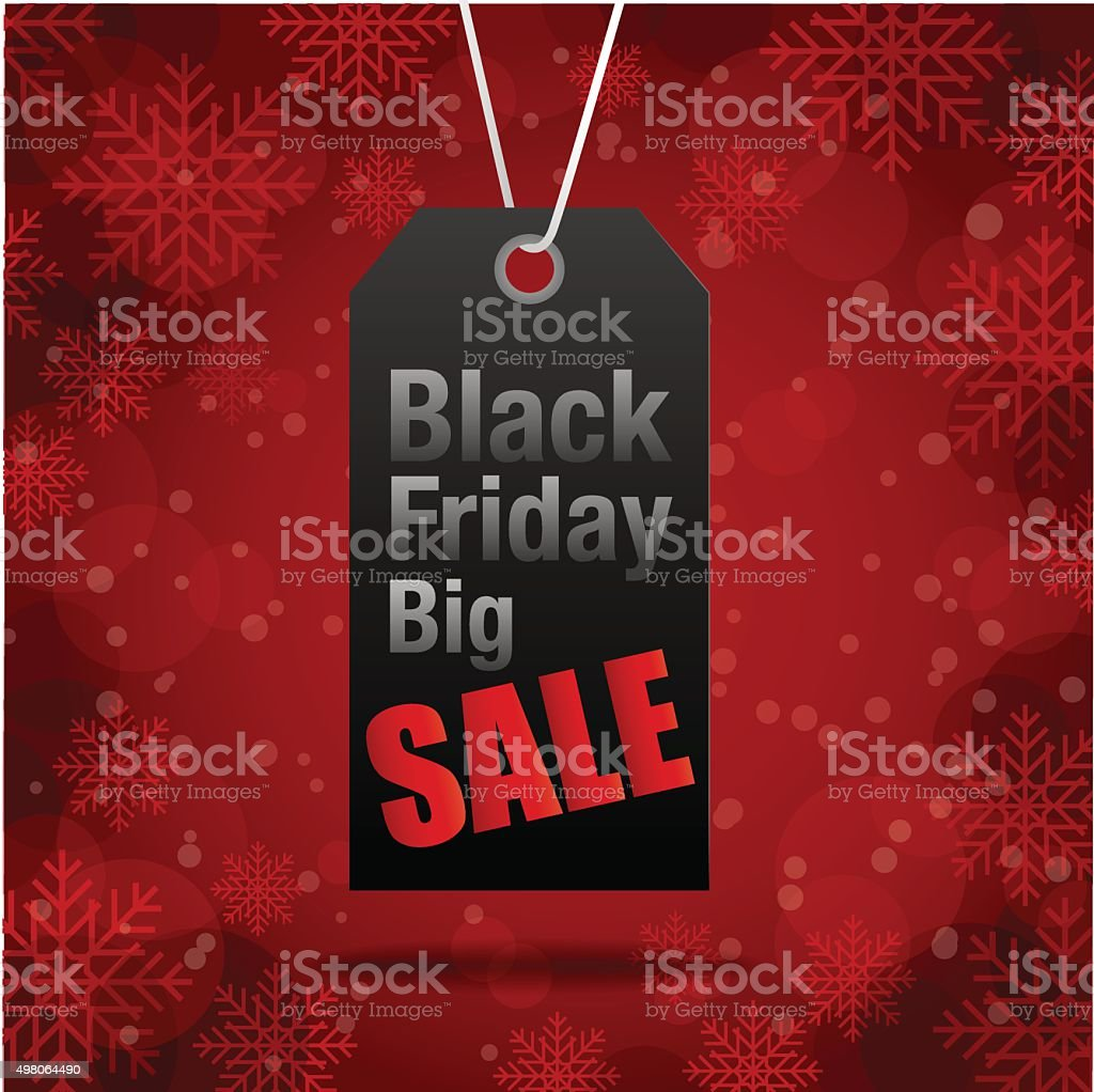 Black Friday sales tag , shopping vector art illustration