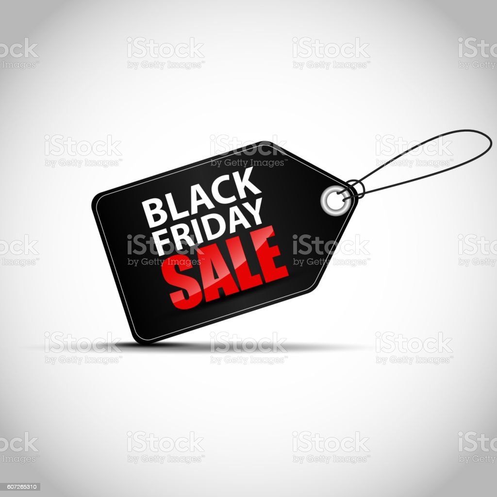 Black Friday sales tag vector art illustration