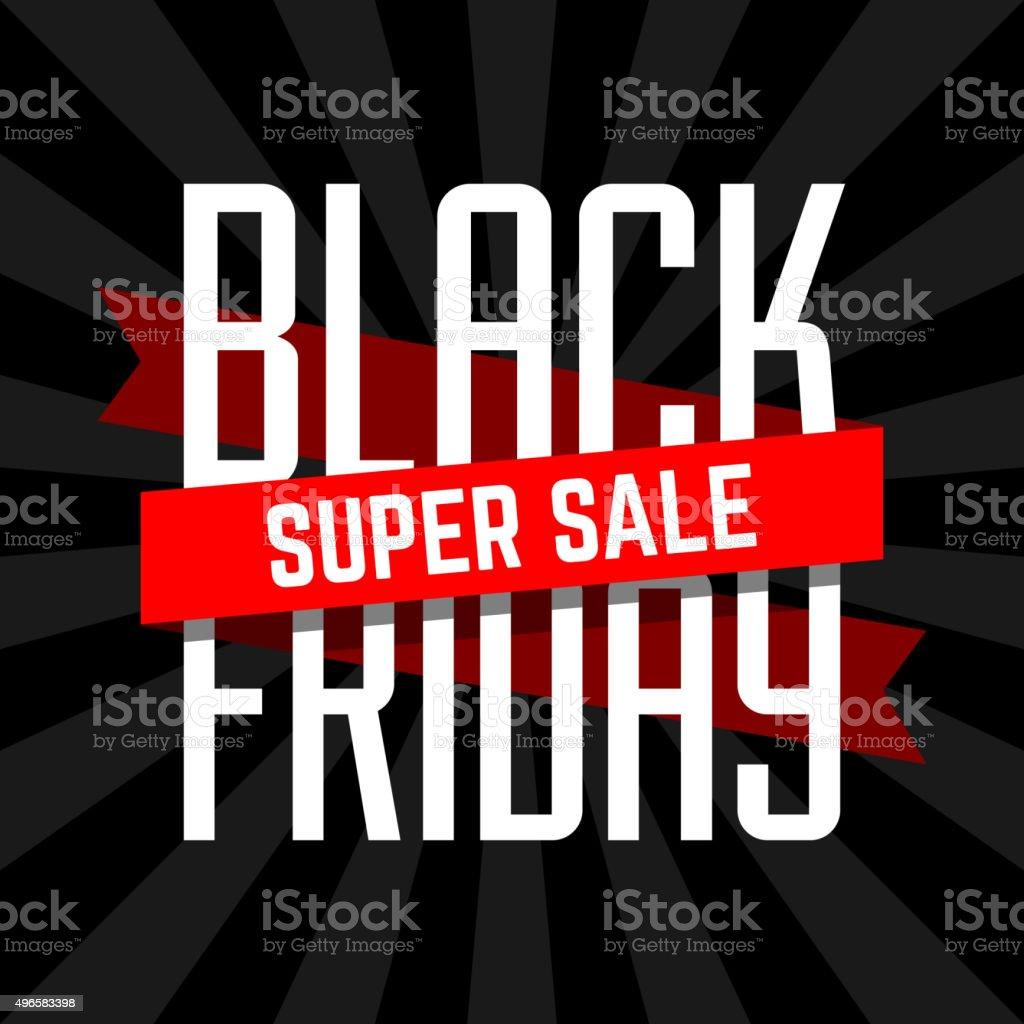 Black Friday super sale design vector art illustration