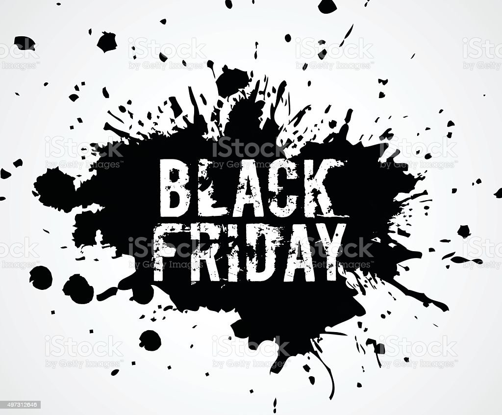 Black friday vector art illustration