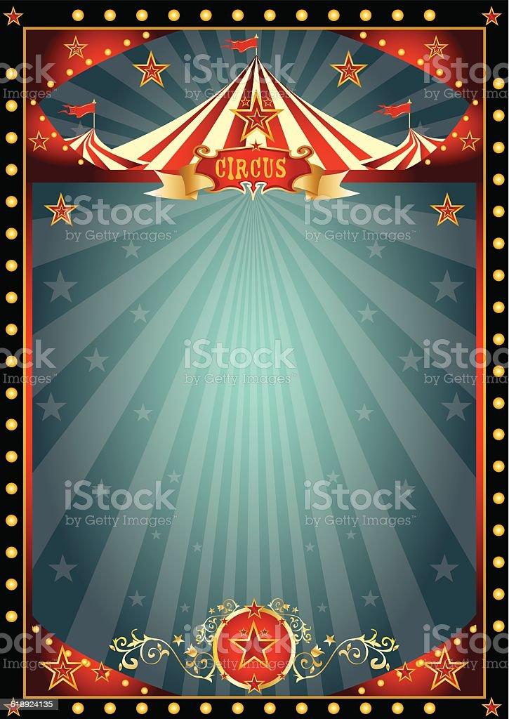 Black fun circus vector art illustration